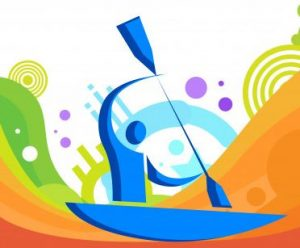competitive canoeing icon