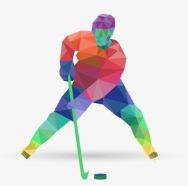 multi color abstract ice hockey place