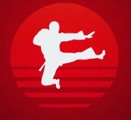 martial arts red