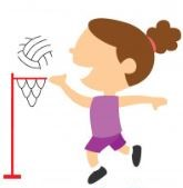 girl playing netball cartoon