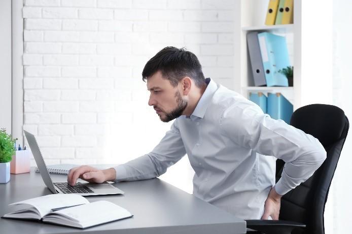 prolonged sitting back pain
